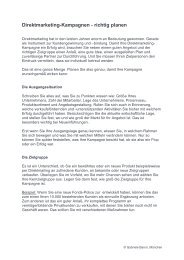 Direktmarketing-Kampagnen - richtig planen - Gabriele Baron Text ...