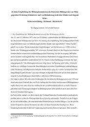 25 Jahre Empfehlung der Bildungskommission ... - Wolfgang Jantzen