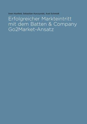 Erfolgreicher Markteintritt mit dem Batten & Company Go2Market ...
