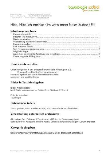 Bilder in Text hineingeben - Baubiologie Südtirol