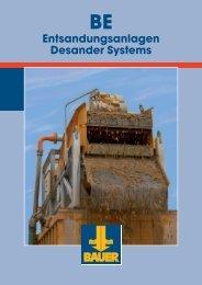 Entsandungsanlagen Desander Systems