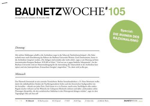 BAUNETZWOCHE#105