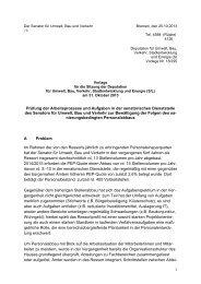 TOP 4 - Der Senator für Umwelt, Bau und Verkehr - Bremen