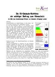 Die EU-Gebäude-Richtlinie: Richtlinie: Richtlinie: ein ... - bauXund