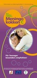 Für Teens besonders empfohlen: Meningokokken C ... - Baxter