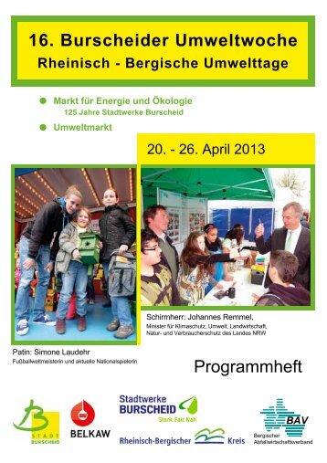 16. Burscheider Umweltwoche Programmheft - Bergischer ...