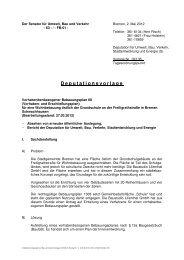 TOP 6 - Der Senator für Umwelt, Bau und Verkehr - Bremen