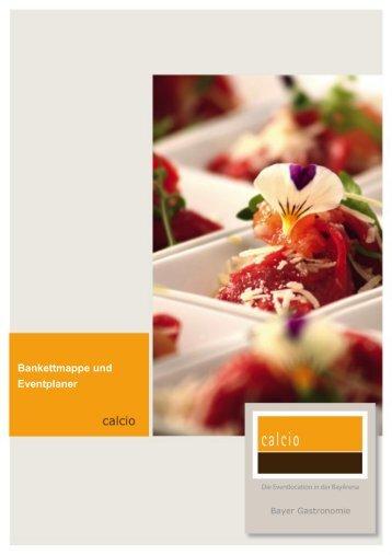 Bankettmappe - Bayer Gastronomie GmbH