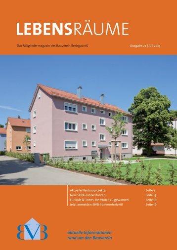 Lebensräume Sommer 2013 - Bauverein Breisgau eG