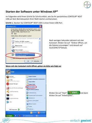 Starten der Software unter Windows XP®