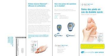 Soins des pieds en cas de diabète sucré: - Bayer Diabetes Care ...