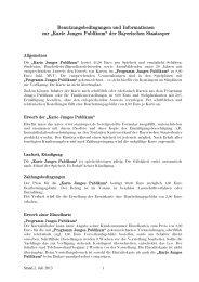 Benutzungsbedingungen und Informationen zur - Bayerische ...