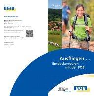 Ausflugtipps mit der BOB - Bayerische Oberlandbahn