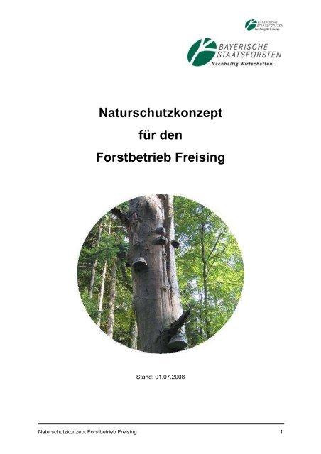 Naturschutzkonzept für den Forstbetrieb Freising - Bayerische ...