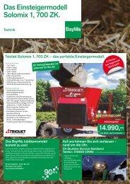 Das Einsteigermodell Solomix 1, 700 ZK. - BayWa AG