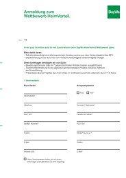 Anmeldung zum Wettbewerb HeimVorteil. - BayWa AG