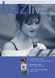 Download baz live Ausgabe 13 (PDF-Datei, 10 MB) - BAZ Esslingen