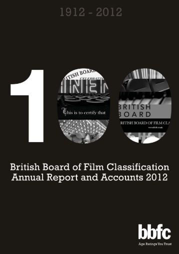 Download the BBFC Annual Report 2012