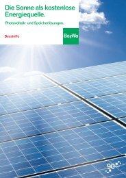 BST Photovoltaik-Broschuere 2013 - BayWa AG