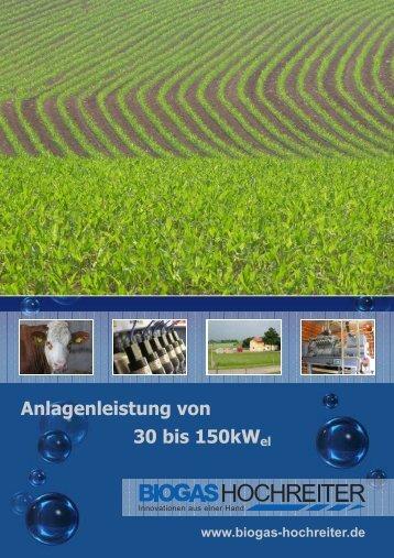 Firmenbroschüre Kleinanlage - Biogas Hochreiter