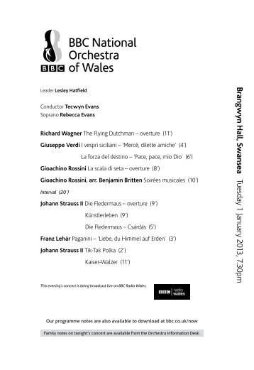 Find out more by downloading our programme notes - BBC
