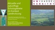 Aktuelle und zukünftige Schutzgebiete im Kontext Landnutzung