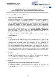 Fachoberschule Wirtschaft und Verwaltung (Klassen ... - BBS Wechloy