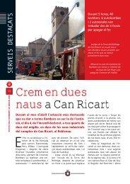 Cremen dues naus a Can Ricart (PDF) - Ajuntament de Barcelona