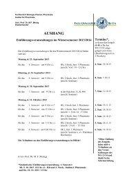 Einführungsveranstaltungen und Entgelt WS 2013/14 - Fachbereich ...