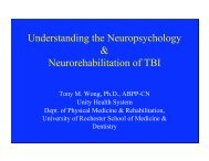 Traumatic Brain Injury - Brain and Cognitive Sciences - University of ...