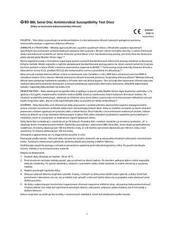  BBL SensiJDisc Antimicrobial Susceptibility Test Discs - BD