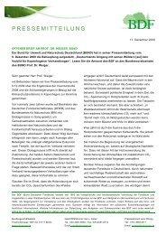 Pressemitteilung zum Download - Bund Deutscher Forstleute (BDF)