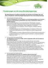 Forderungen an die neue Bundesregierung / den ... - BDF