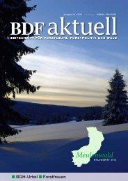 BGH-Urteil Forstfrauen - BDF