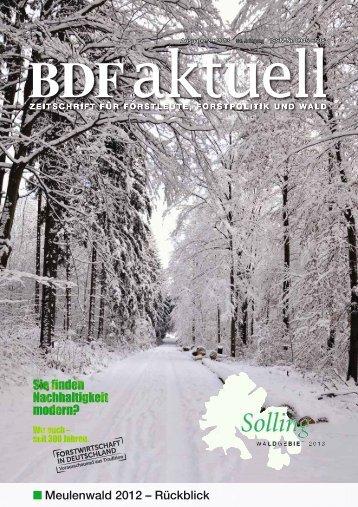 Ausgabe 02/2013 - BDF
