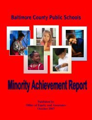 2005-2006 - Baltimore County Public Schools
