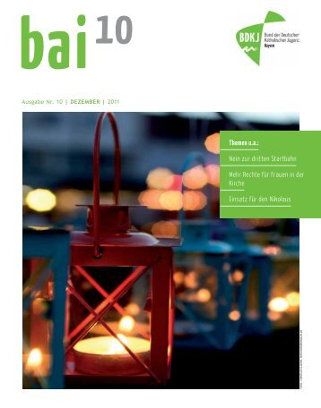 Nein zur dritten Startbahn Mehr Rechte für Frauen in - BDKJ Bayern