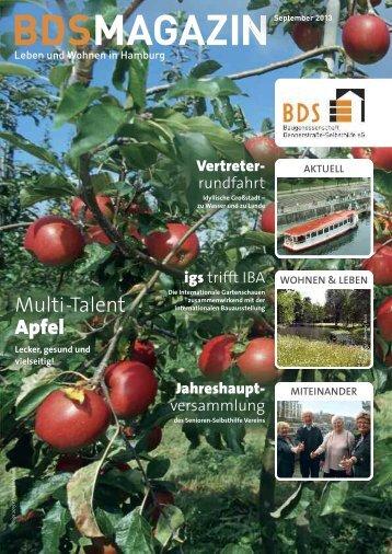 """PDF 1,5 MB, """"BDS-Magazin - Leben und wohnen in Hamburg"""""""
