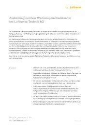 Ausbildung zum/zur Werkzeugmechaniker/-in ... - Be-Lufthansa.com