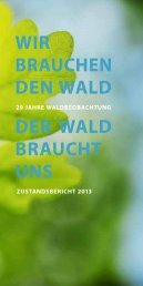 Waldbeobachtung Zustandsbericht 2013 - Kanton Bern