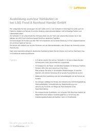 Ausbildung zum/zur Verkäufer/-in bei LSG Food ... - Be-Lufthansa.com