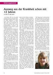 Ausweg aus der Krankheit schon mit 12 Jahren - Deutsche ...