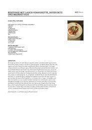 rehzunge mit lauch -vinaigrette, roter bete und meerrettich - Beef