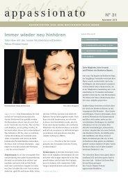 appassionato 31 - Beethoven-Haus Bonn