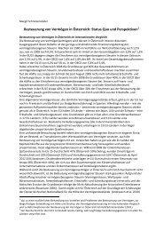 Besteuerung von Vermögen in Österreich: Status Quo und ...