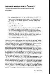 Populismus und Sportstars in Österreich - Beigewum