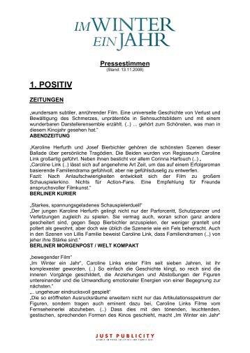 Pressestimmen 13.11.2008 sortiert - Bella Halben