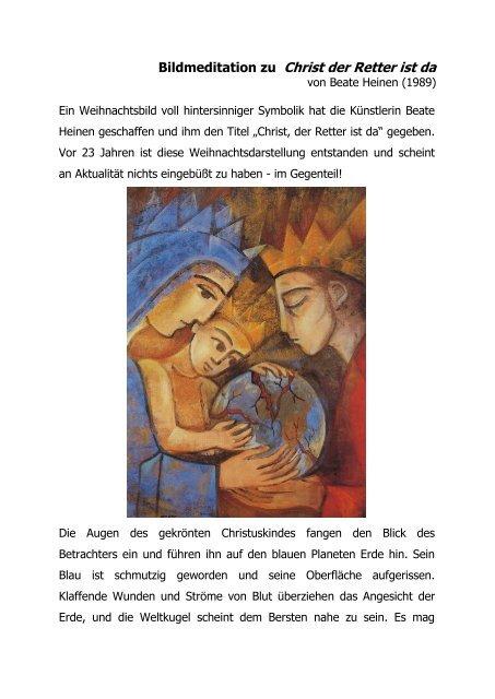 Beate Heinen Weihnachtsbilder.Meditation
