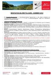 montafon-silvretta-card - sommer 2012 - Bergbahnen Gargellen