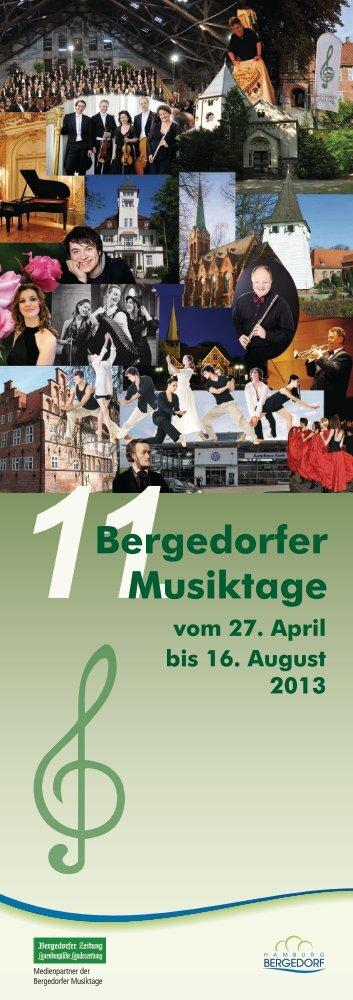 Download Programmflyer 2013 - Bergedorfer Musiktage